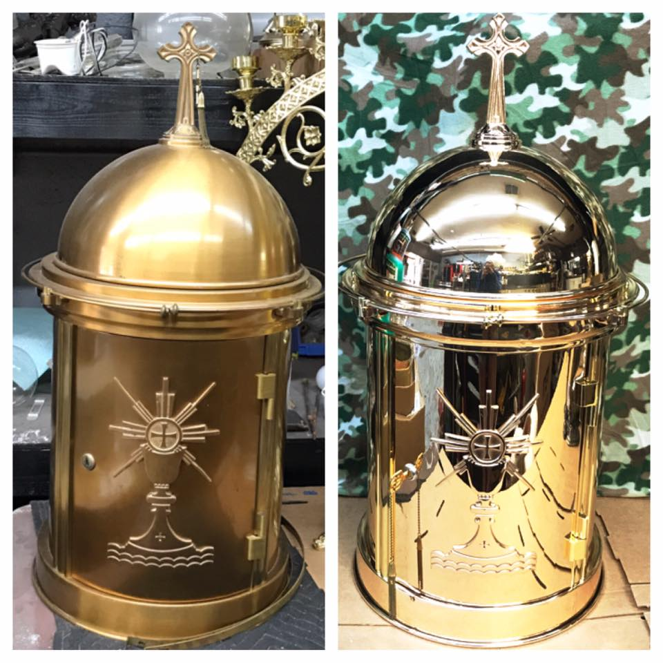Before/after Bronze tabernacle