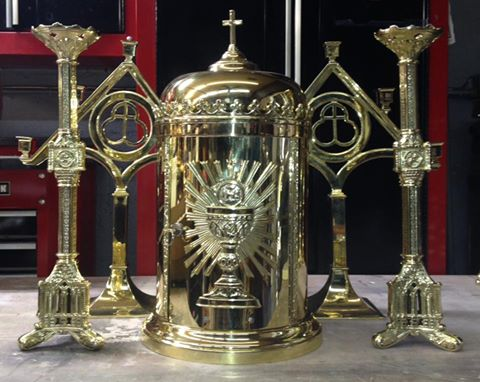 Tabernacle with candle sticks