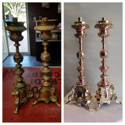 Before/after candlestick pair