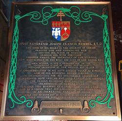 Notre Dame Seminary Bronze plaque