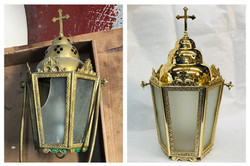 Before/after processional lantern