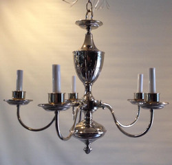 Nickel plated chandelier