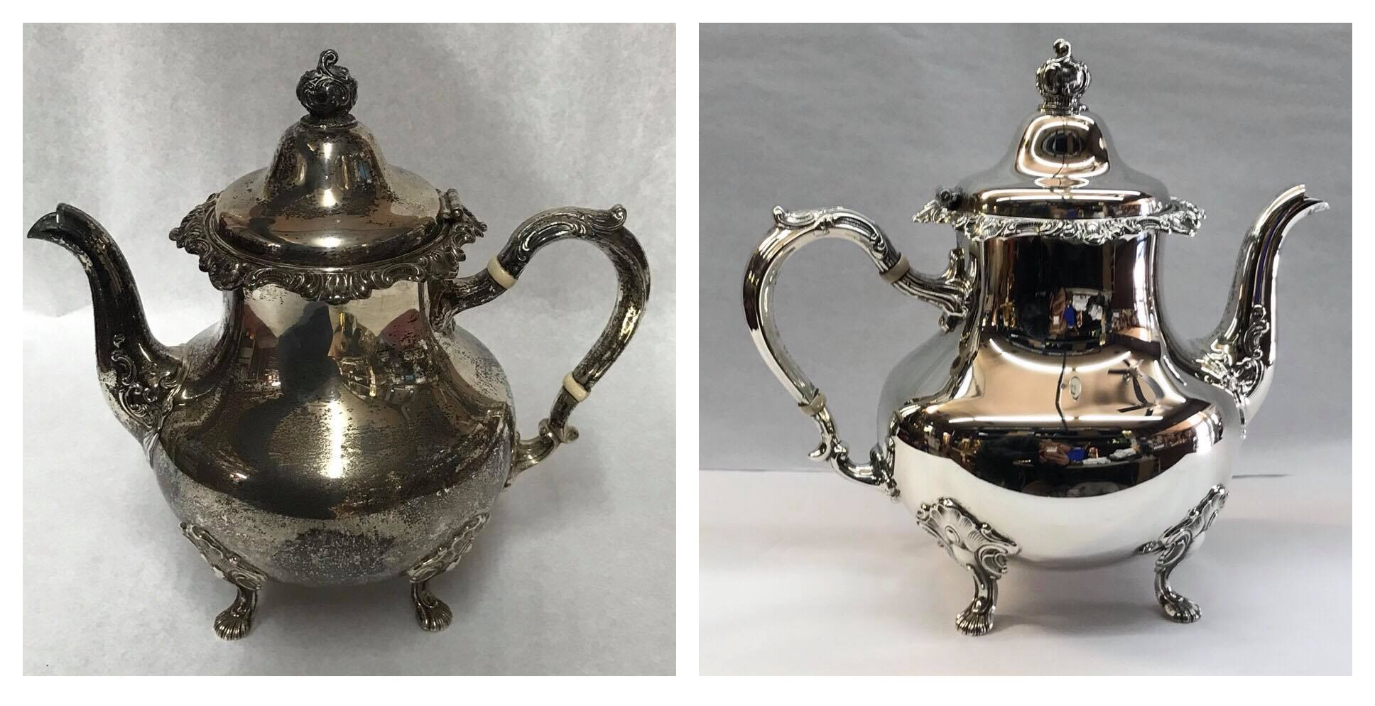 Before/after tea pot
