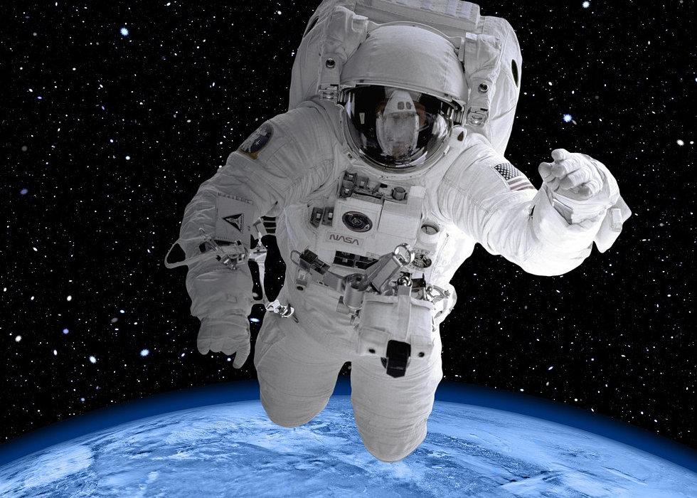 Astronaut over Earth