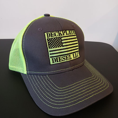 Safety Green Deckplate Diesel Hat