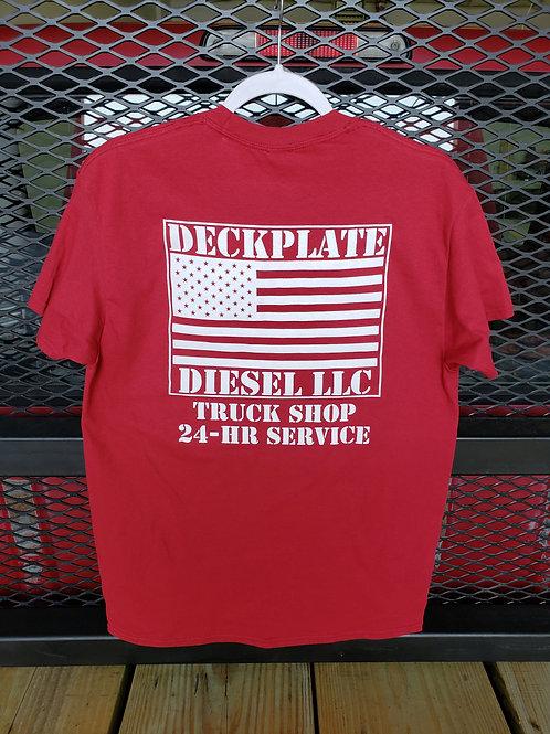 Red Deckplate Diesel T-Shirt