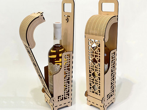 Коробка для вина с откидной крышкой