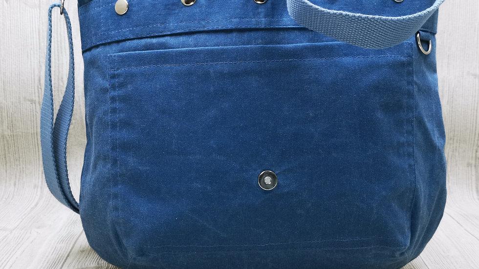 Beuteltasche ZumMitnehmen Oilskin Basic jeansblau