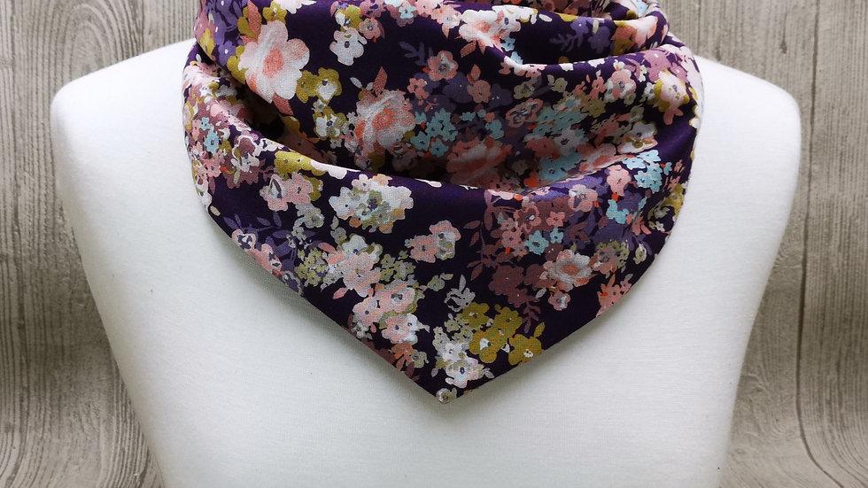 Schlupfschal Blumenwiese violett