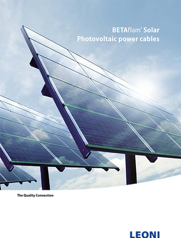BETAflam Solar Cables 2014 Catalogue