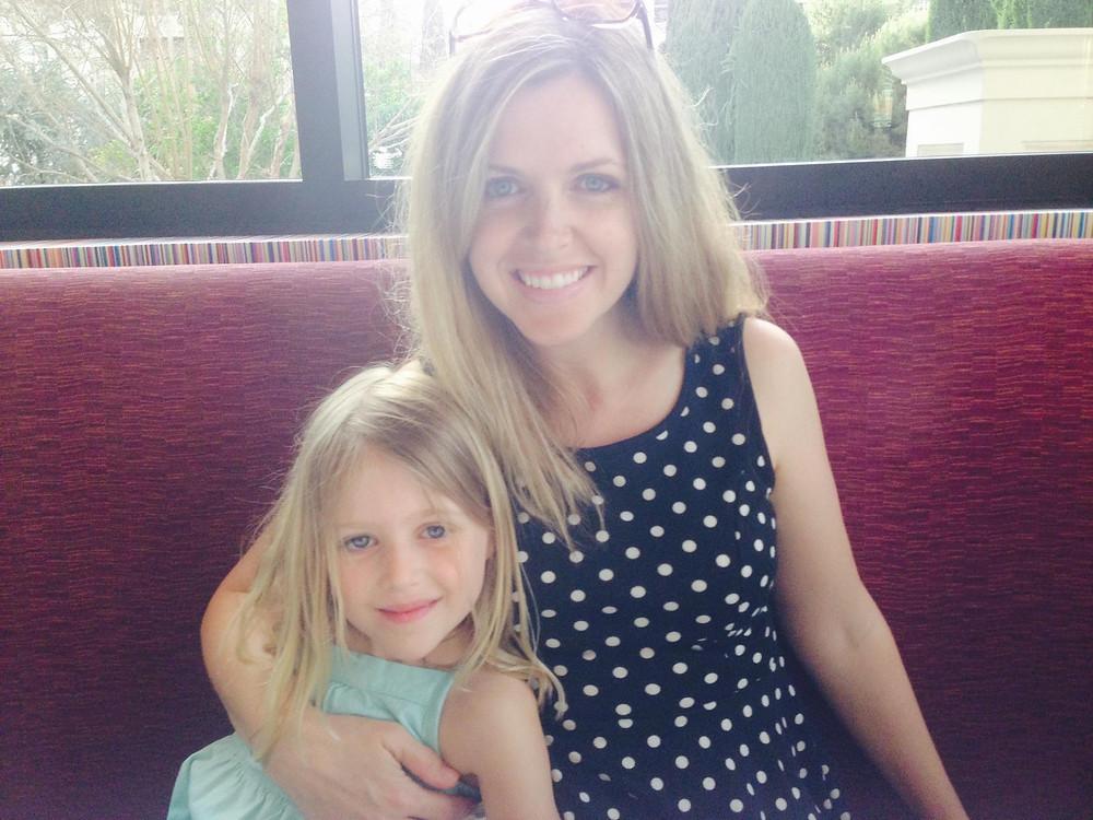 My daughter, Cora Rose, and me.