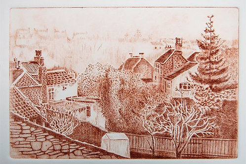 Frenchay Village - Drypoint Print