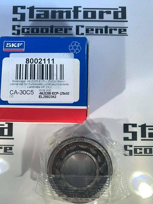 LAMBRETTA  SKF NU2205 ECP GP Flywheel Side Bearing 25x52x18