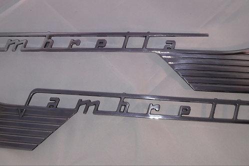 Badge side panel -LAMBRETTA- Lambretta - LI (series 1-2), TV (series 2) - pair