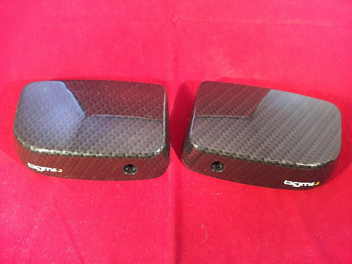 BGM Pro Vespa GTS GT Pair Of Master Cylinder Covers W/O Mirror Holes Carbon
