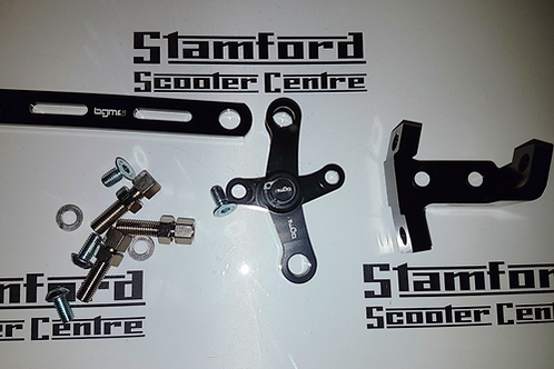 BGM Lambretta Engine Gear Linkage and Adjuster Set Anodised Black