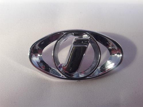 Badge horn cover -LAMBRETTA- Innocenti emblem - DL, GP - chromeCasa Lambretta