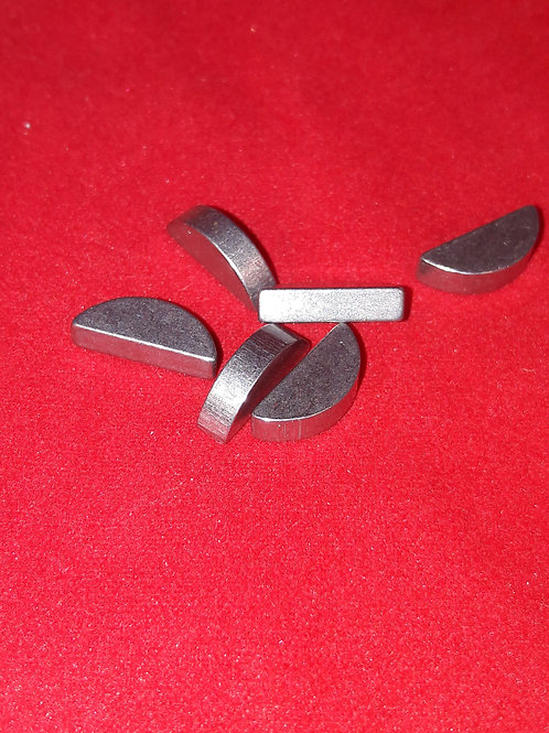 Woodruff key -DIN 6888- 3x3mm (used for primary gear Vespa V50, V90, SS50, SS90,