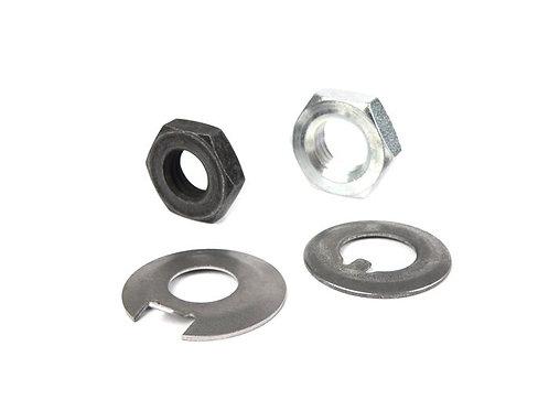 Vespa Smallframe Clutch & Crank Nut & Tab Washer Set