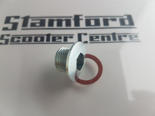 Casa Lambretta Crankcase Oil Level Plug with Fibre Washer