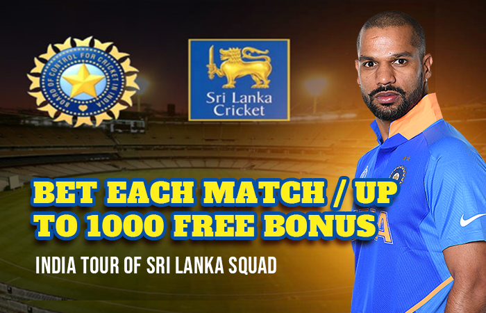 Betting on India tour of Sri Lanka 2021 and get ₹1,000 Continuous betting bonus