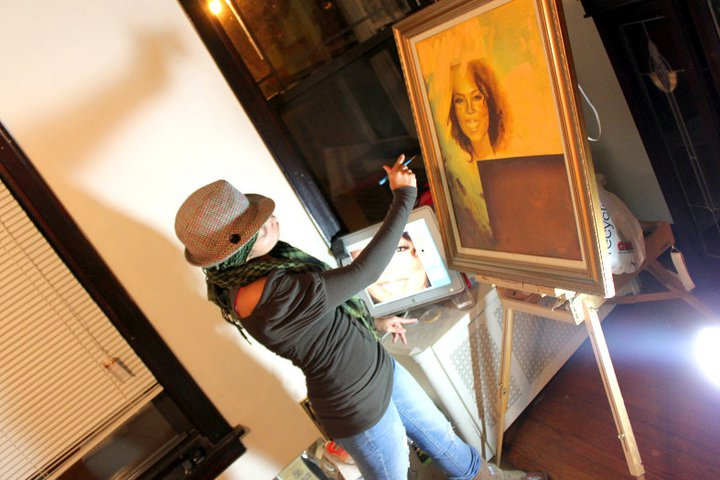 The Oprah Painting in progress