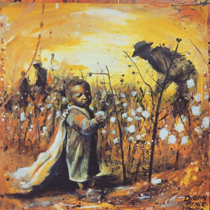 A 3yr old picking cotton. #commision #ar