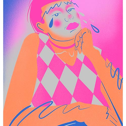 A5 Floss Burns Print