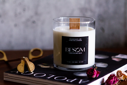 8oz Soy Wax Candle - Besom