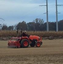 planting Soccer field grass Nov.2018