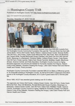 HCCF donation