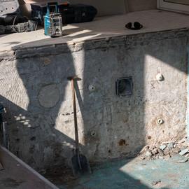Tegels verwijderen zwembad