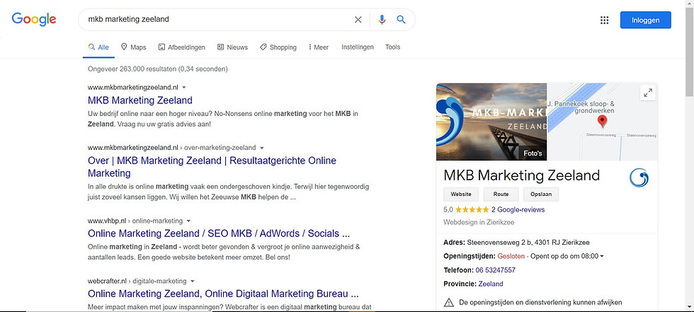 Google seo optimalisatie
