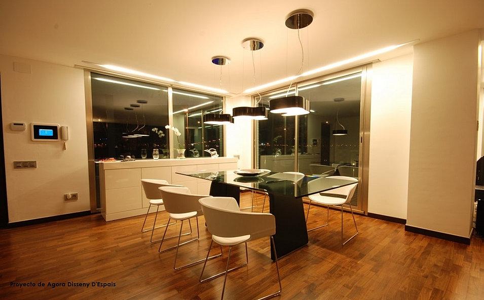 Iluminacion salon comedor brillante comedor saln comedor - Iluminacion salon comedor ...