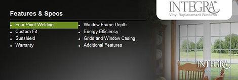 Integra window for replacing broken window