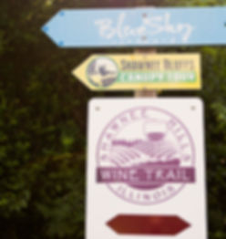 Shawnee Hills Wine Tril Signage
