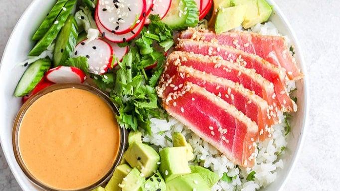 Seared Tuna Poke Bowl