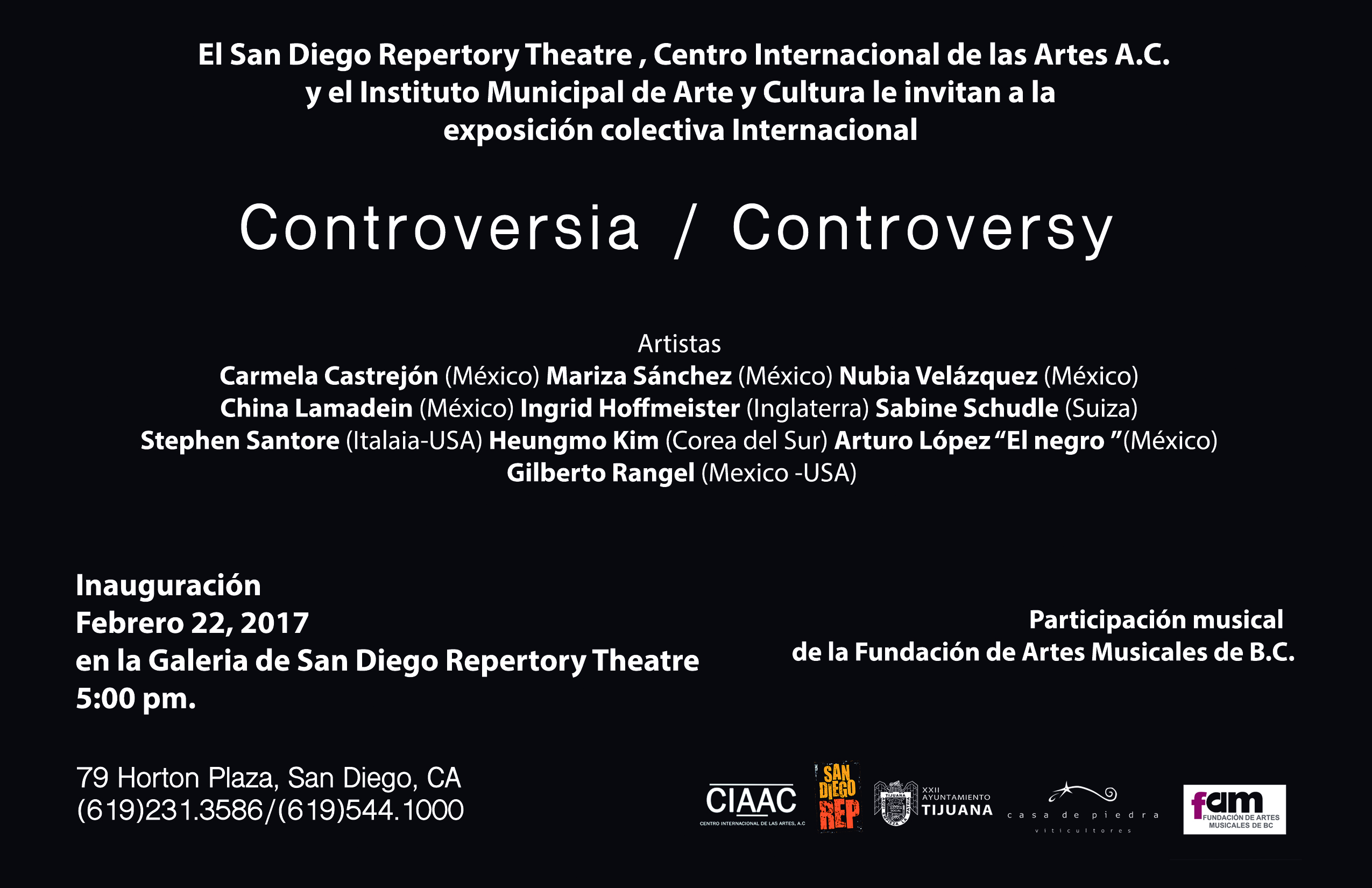 Invitation to Controversia/Controversy