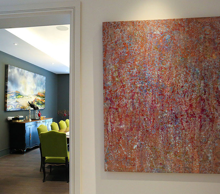 Sold painting in a private residence.