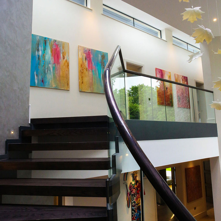 sold paintings in a private residence.