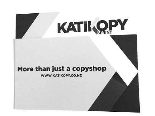 500 single sided B&W business cards