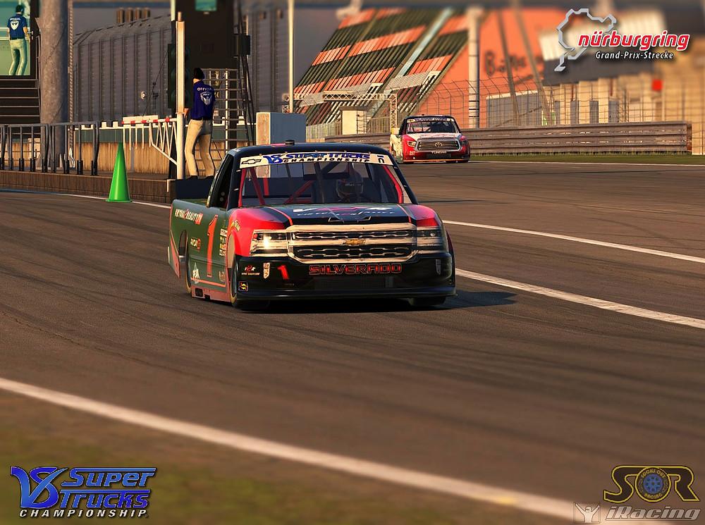 Zalenski exiting pit lane