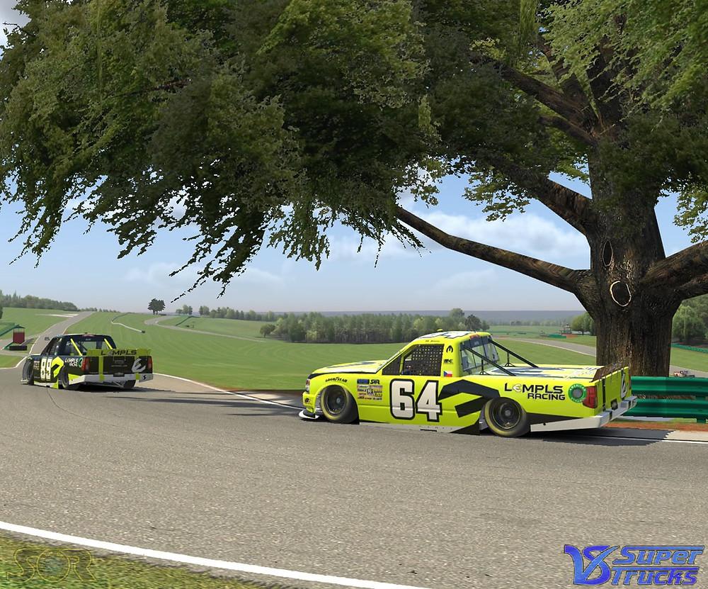 Racing around the oak tree