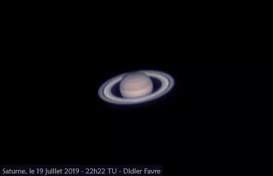 Saturne hier soir, grâce à un bon seeing