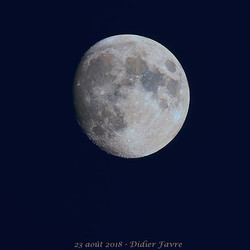 #Lune gibbeuse hier