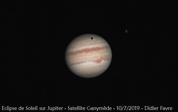 Éclipse de Soleil par Ganymède sur les n