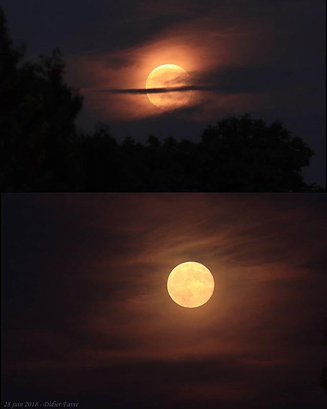 Lever de Lune, ce soir.