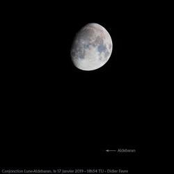 Ce soir la #lune avait rdv avec Aldebara