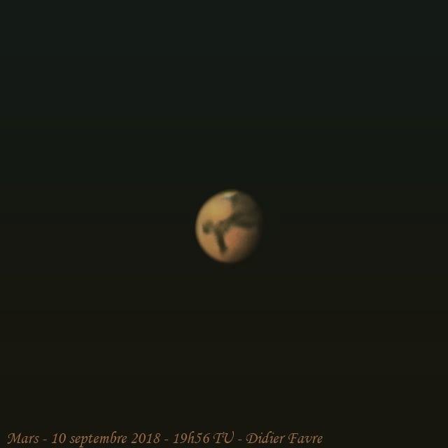 #Mars ce soir dans des conditions favora