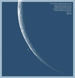 Occultation de Vénus par la Lune
